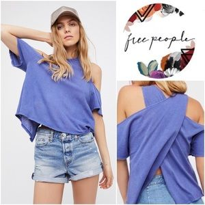 Free People Taurus Cold Shoulder Short Sleeve Tee